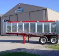 Aluminum Body Steel Quarter Frame Dump Trailers