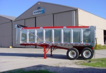Aluminum Body Steel Quarter Frame Dump Trailers